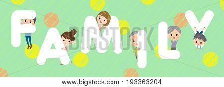 family character illustration font title Design Title