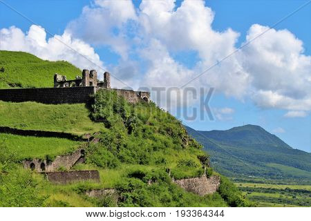 Brimstone Hill Fortress on the island of St. Kitts