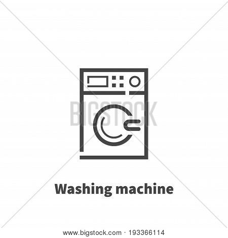 Washing machine icon vector symbol in line style isolated on white background. Editable stroke 48x48 pixel perfect.