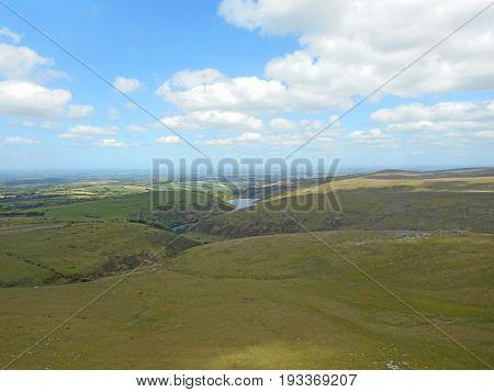 Meldon Reservoir on Dartmoor in Devon, England