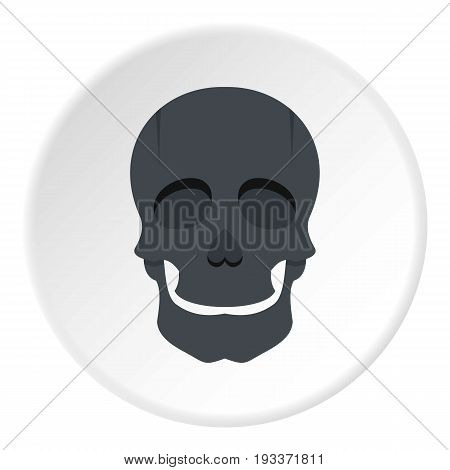 Singer mask icon in flat circle isolated on white background vector illustration for web