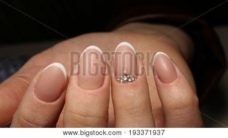 Wedding French Manicure Design