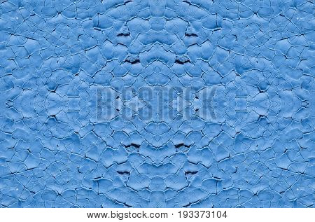 Background big size blue color the old paint on metal