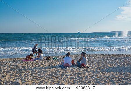 Picnic On The Sunset Beach