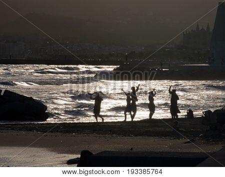 Sunny Evening Dancers People