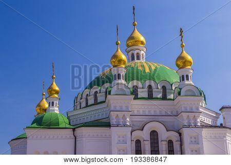 KIEV UKRAINE - JUNE 05 : The Pechersk Lavra monastery in Kiev Ukraine on June 05 2017 The Pechersk Lavra is unesco world heritage site since 1990