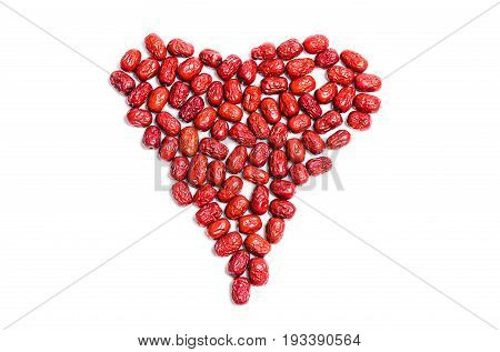 Heart Shape Made Of Jujube, Chinese Dried Red Dates
