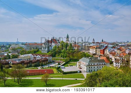 View of Old City of Lublin Poland