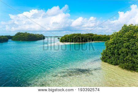 Quintana Roo Mexico the Sian Ka'an lagoon reserve