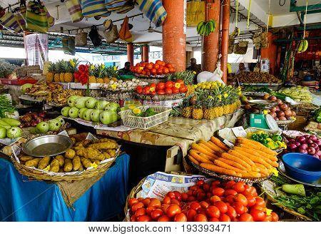 Rural Market In Mahebourg, Mauritius