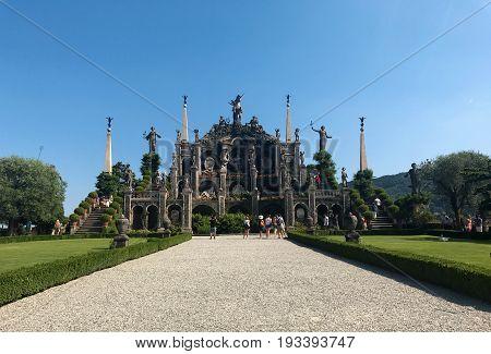 Isola Bella Italy gardens landscape architecture landmark