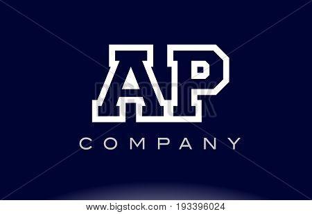 Ap A P  Alphabet Letter Logo Icon Company