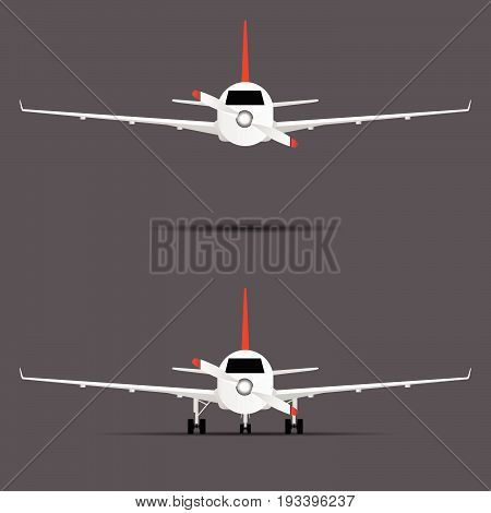 Airplane Engine With Propeller Illustration