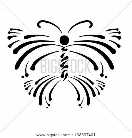 Butterfly Logo A Brand Name Icon. Vector Illustration