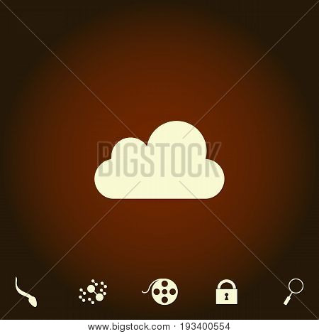 cloud Simple vector icon. Illustration symbol. Flat pictogram and bonus icons