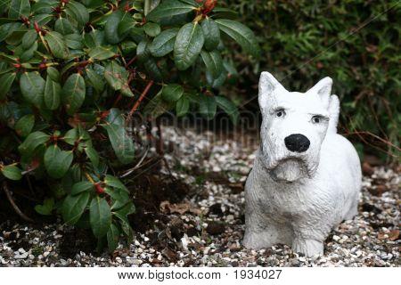 Cemetery Dog Statue