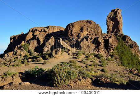 Natural park of Roque Nublo, summit of Gran canaria, Canary islands