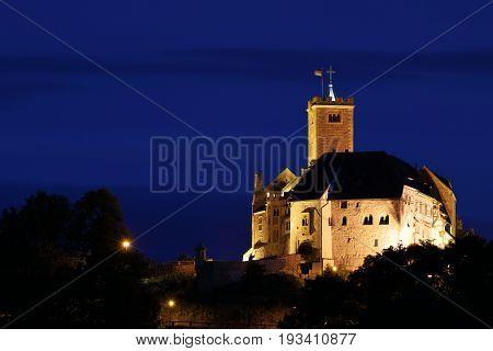 The Wartburg Castle near Eisenach in Thuringia