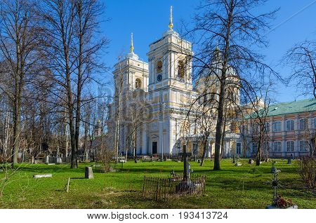 Cathedral Church in name of Holy Life-Giving Trinity (Holy Trinity Cathedral) in Holy Trinity Alexander Nevsky Lavra St. Petersburg Russia