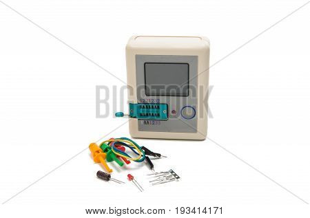 Tester  technology tool isolated on white background