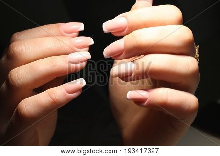 Pink Gentle French Manicure Design