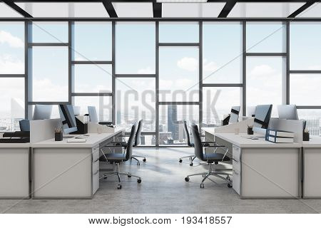 Rectangular Decoration Open Space Office Close Up