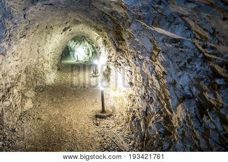 Stone Mining Tunnel