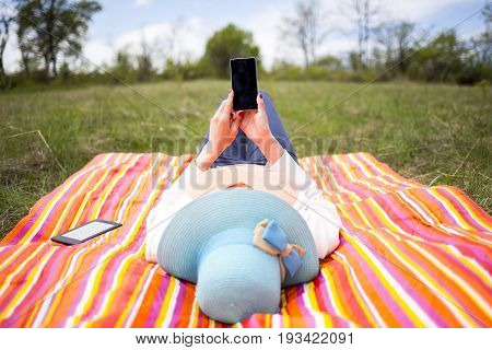 Attractive Young Woman With Phone
