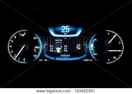 Modern Light Car Mileage On Black Fuel Economy 25 Mph