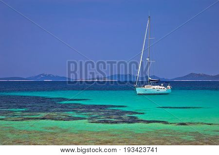 Pantera Turquoise Beach On Dugi Otok Island Archipelago Sailing Destination