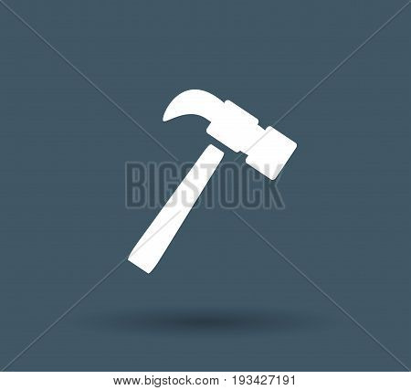 hammer icon on white background . vector eps10