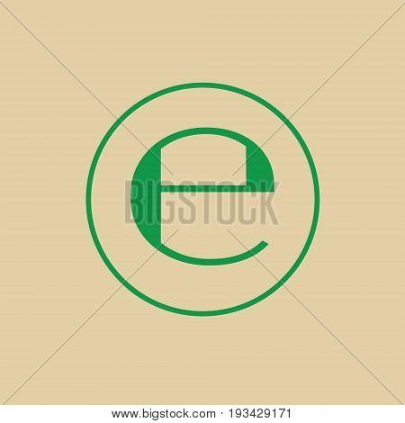 Estimated Sign E Mark Symbol Icon Vector Illustration