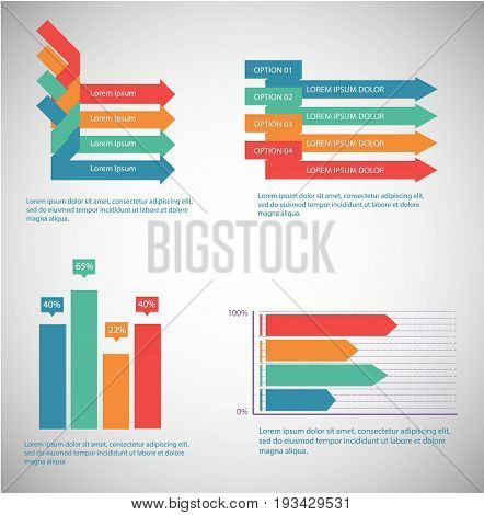 Information Technology Info Graphic elements editable vector illustration