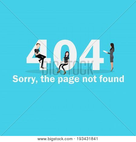 404 page not found illustration of internet disconnect page failed network server down vector