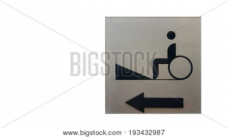 Cripple Sign on Metal Texture and backgrounds .