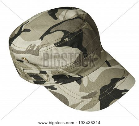 Sports Cap Isolated On A White Background .military Cap