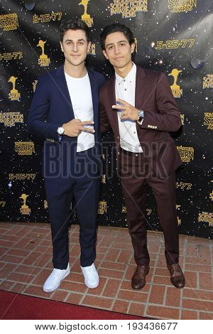 BURBANK - JUN 28: David Henrie, Lorenzo Henrie at the 43rd Annual Saturn Awards at The Castaway on June 28, 2017 in Burbank, California