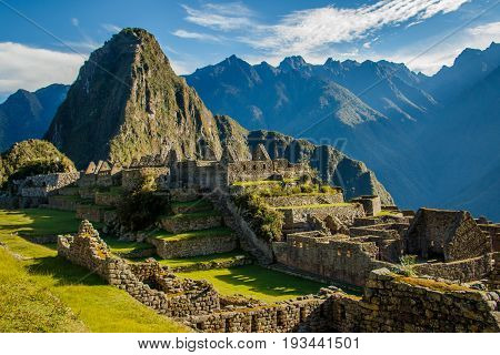 The most famous place of Peru and whole South America is the ancient landmark of Machu Picchu near Cuzco