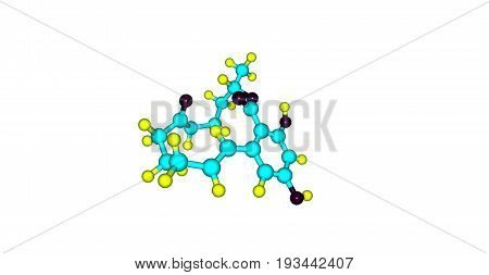 Zearalenone or ZEN also known as RAL and F-2 mycotoxin is a potent estrogenic metabolite. 3d illustration