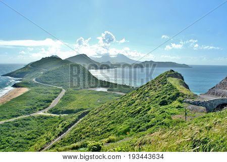 Beautiful scienic landscape views of the ocean and mountains