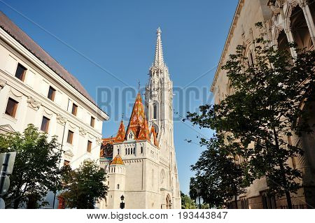 Budapest Hungary Europe - St.Matthias church day view