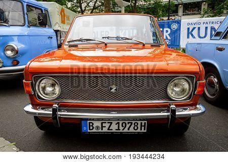 BERLIN - JUNE 17 2017: Small family car Zastava 1100 Skala 1978. Classic Days Berlin 2017.
