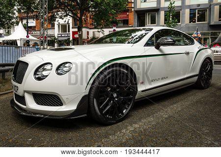 BERLIN - JUNE 17 2017: Personal luxury car Bentley Continental GT 2017. Classic Days Berlin 2017.