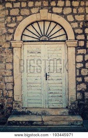 The Old doors in Dobrota village Montenegro