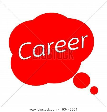 Career TEXT White Wording on Speech Bubbles Red Background