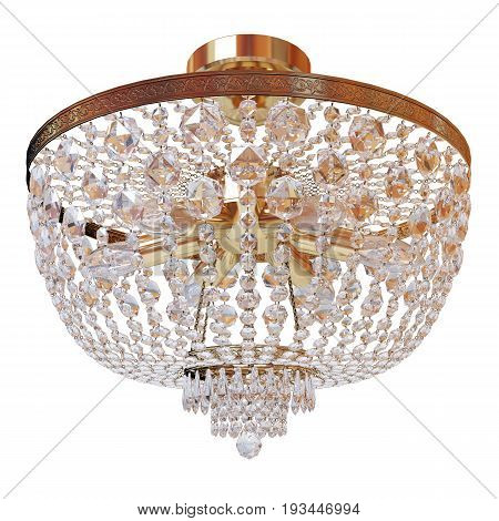 Old fashioned Chandelier on a white background