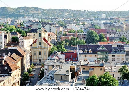 Budapest Hungary Europe - panoramic day view of the city