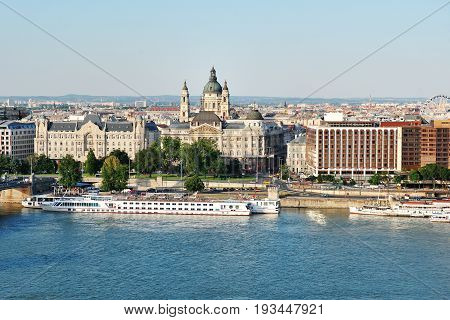 Budapest Hungary Europe - panoramic view of Danube and historic buildings