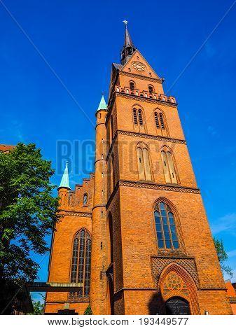 Propsteikirche Herz Jesu Church In Luebeck Hdr