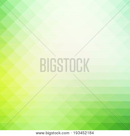 Light Green Shades Rows Of Triangles Background, Square